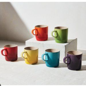 Le Creuset Rainbow Collection Mugs, Set of 6
